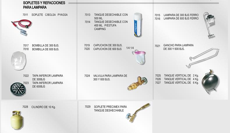 Pyagsa partes y accesorios para gas for Accesorios para cocina a gas